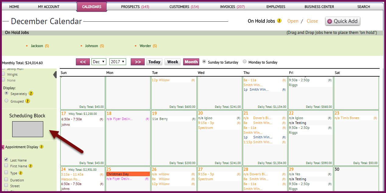 scheduling block