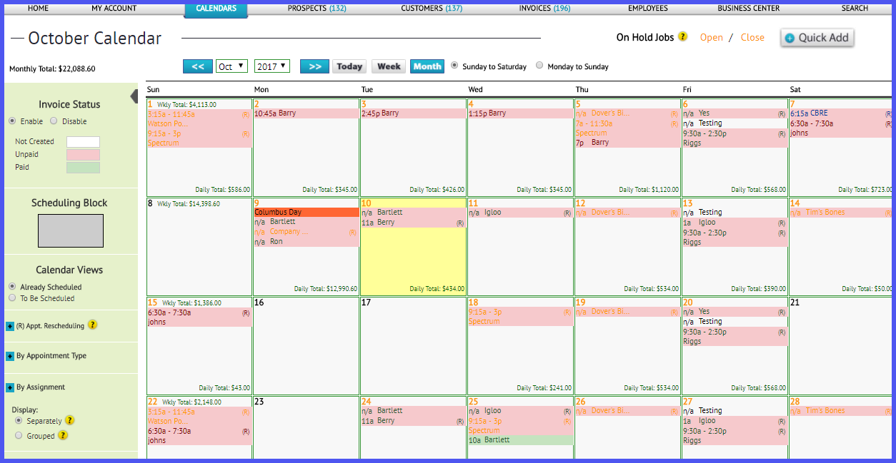 Monthly Calendar I Can Type On : Reorder calendar sidebars the customer factor